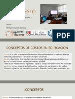 Sesion 5 y 6 - Estimacion de Costos Arqto. William Castro