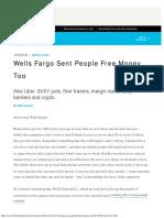 Wells Fargo Sent People Free Money Too - Bloomberg