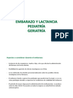 Embarazo Lactancia Geriatria Pediatria