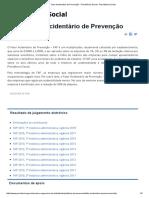 FAP - Fator Acidentário de Prevenção - Previdência Social - Previdência Social