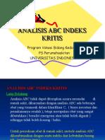 Sesi 6. Analisis ABC Indeks Kritis