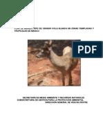 Plan Manejo Tipo-VenadoColaBlanca-Zonas Templadas Tropicales