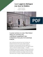 Jean-Luc Lagarce dialogue avec tout le théâtre - Sortir Grand Paris - Télérama