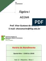 Aula 01 - Apresentação e Introdução AG1M4