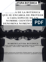 nomenclatura de la botanica