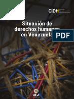 El informe de la CIDH Sobre Violación a Derechos Humanos en Venezuela 2018