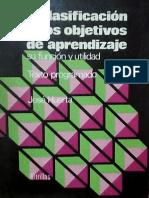La clasificación de los objetivos de aprendizaje, su función y utilidad