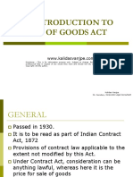 Introduction to Sale of Goods Act