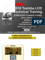 Toshiba Chassis e200u Um 32e200u 37e200u 40e200u Technical Training 2010