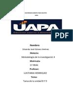 Unidad 8 y 9 Metodologia de La Investigacion II