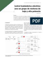 1 .Control Inalambrico Electrico Para Un Grupo de Motores de Baja y Alta Potencia