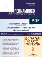 Modernismo Semana de Arte Moderna No Brasil