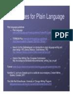 References - Plain Language