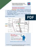 INFORMATIVO Alteração Parada Centro Canoas