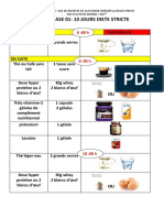 regime phase 01 10 jours diete stricte