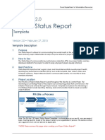 Project Status Temp