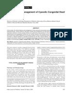 Diagnosis and Management of Cyanotic Congenital II