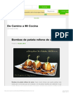 Bombas de Patata Rellena de Carne - MyTaste.es