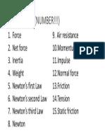 vocab forces