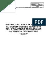 Instructivo de Actualizacion de Firmware TG788vn V2