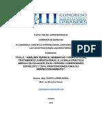 Análisis Teórico Normativo y Práctico Del Tratamiento Jurídico Penal a La Mala Práctica Médica en Ecuador