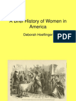 A Brief History of Women in America-Deborah Hoeflinger