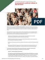 Esta Es La Norma Que Permite a Policías Trabajar en Vacaciones y Días de Franco _ Legis.pe
