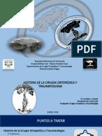 Historia de La Cirugia Ortopedica