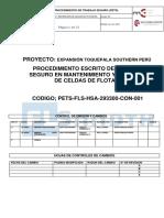 1.-PETS de Mantenimiento y Reparación de Celdas de Flotación