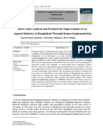 Root cause analysis and productivity improvement of an apparel industry in Bangladesh through Kaizen implementation