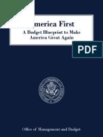 White House FY 2018 Budget Blueprint