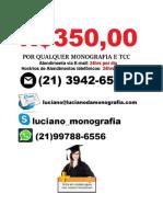 Monografia e tcc R$ 350,00   Feira de Santana