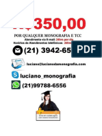 Monografia e tcc R$ 350,00   São José Dos Campos