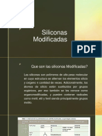 Siliconas modificadas