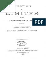 1880 - Amigos de La Justicia - Cuestión de Límites Entre La República Argentina y El Paraguay