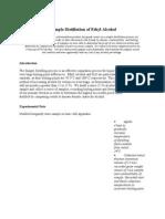 Sample Lab Report Distillation of Ethyl Alcohol