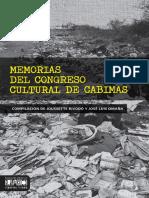 Memorias Del Congreso Cultural de Cabimas
