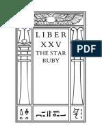 Liber XXV - The Star Ruby
