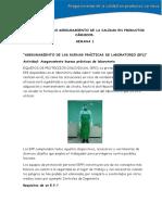 Actividad Curso Aseguramiento de La Calidad en Productos Cárnicos