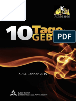 German 10 Tage Des Gebets Heft