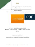 ACCIÓN SOCIAL. La Teoría en La Intervención Social. Sergio Fernández Riquelme (1)