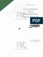 El Incumplimiento de Las Formas Procesales - Binder