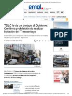 TDLC Le Da Un Portazo Al Gobierno_ Confirma Prohibición de Realizar Licitación Del Transantiago _ Emol.com