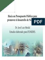 Jose Luis Medal Mzo.-2012 Hacia Un Presupuesto Publico Pro-Desarrollo (Presentacion)