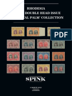 SPINK Auction 18024 - RHODESIA 1910-13 DOUBLE HEAD ISSUE THE 'ROYAL PALM' COLLECTION