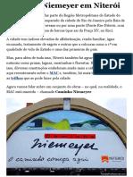 Caminho Niemeyer em Niterói