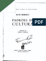 Ruth Benedict - Padrões de Cultura