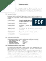 ESPECIFICACIONES TECNICAS POSTE DE MADERA