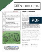 ES Parent Bulletin Vol#3 2010 Sept 9