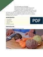 Alimentación Para Los Pacientes en Oncología